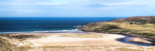 Bettyhill Beach And Torrisdale Bay And The Mouth Of The River Naver In The Highlands