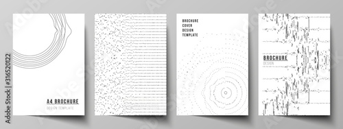 Cuadros en Lienzo The vector layout of A4 format modern cover mockups design templates for brochure, magazine, flyer, booklet