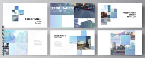Vector layout of the presentation slides design business templates, multipurpose template for presentation brochure, brochure cover Wallpaper Mural