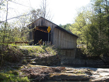 An Old Covered Bridge In Vermont