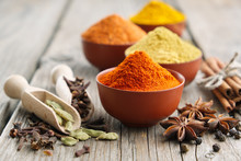 Aromatic Spices And Herbs: Red...