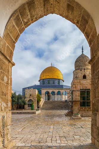 The Dome of the Rock on the Temple Mount in Jerusalem, Israel Fototapet