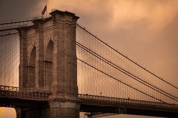 New York City - United States - Brooklyn Bridge at sunset