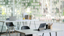 Contemporary Workplace With Mo...