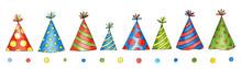 Set Of Watercolor Birthday Cap...
