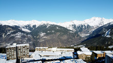 Aerial View Of Alpine Winter V...