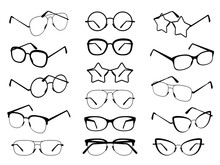 Glasses Silhouettes. Modern Ey...