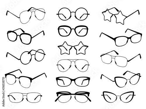 Photo Glasses silhouettes
