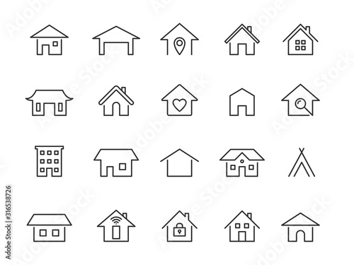 Home line icons Canvas