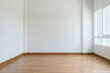canvas print picture - empty white room no have sofa in front of simple clean white wall