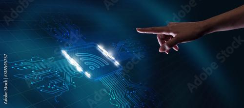 Business, Technology, Internet and network concept Fototapeta