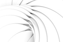 Curved Line Black And White Ab...