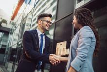 Handshake. Smiling Business Co...