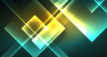 Neon Geometric Abstract Backgr...