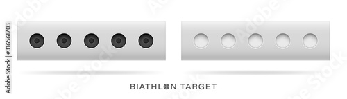 Photo The winter sports attribute is the biathlon target
