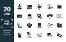Web Hosting Icon Set. Include ...