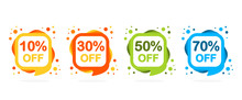 Sale Discount Icons. Special O...