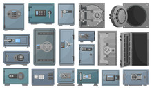 Bank Safe Vector Cartoon Set I...