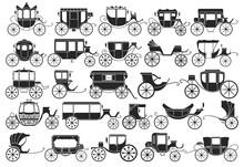 Vintage Carriage Vector Black,...