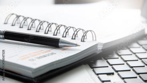 penna, agenda, appuntamenti, organizzazione Canvas Print