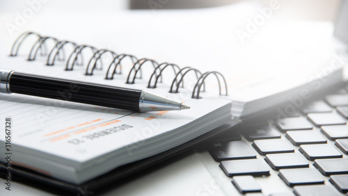penna, agenda, appuntamenti, organizzazione Wallpaper Mural