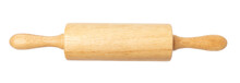 Wooden Rolling Pin Isolated On...