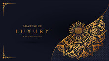 Luxury Mandala Background With Golden Arabesque Pattern Arabic Islamic East Style.decorative Mandala For Print, Poster, Cover, Brochure, Flyer, Banner.