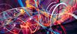 Leinwandbild Motiv Abstract bright multicolor composition. Modern dynamic background. Fractal artwork for creative graphic design