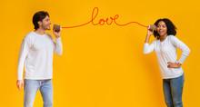 Love Message. Romantic Interra...