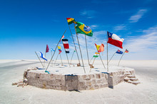 Flags Around The World In The ...