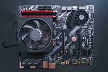 PC Components. Motherboard Wit...