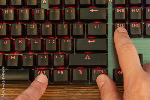 control alt delete on keyboard Canvas Print