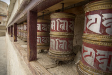 Buddhist Prayer Wheels In Lada...
