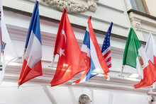 Many National Flags Of Differe...