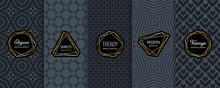 Black Vector Seamless Patterns...