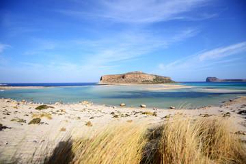 Beautiful day at Balos lagoon - crete island, Greece