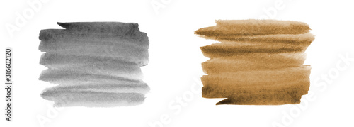 Obraz Gray and brown abstract background in watercolor - fototapety do salonu