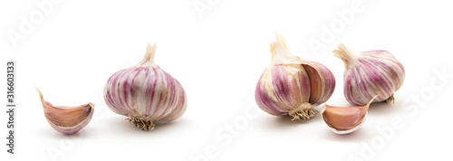 garlic isolated on white background Wallpaper Mural