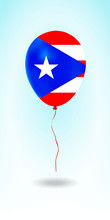 Puerto Rico Balloon With Flag....