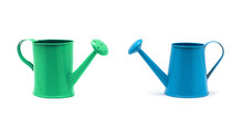 Blue Watering Can Isolated On ...