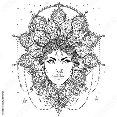 Stampa su Tela Tribal Fusion Boho Goddess