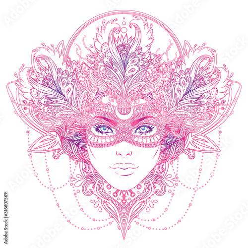 Canvas Print Tribal Fusion Boho Goddess