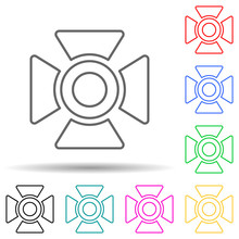 Light For Filming Multi Color Style Icon. Simple Thin Line, Outline Vector Of Spotlight Icons For Ui And Ux, Website Or Mobile Application