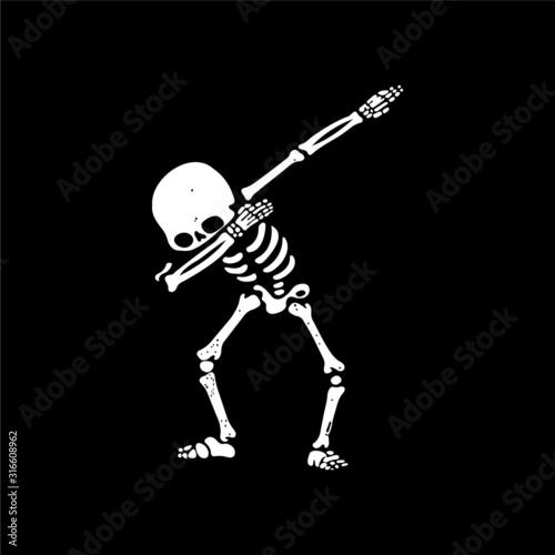 Cuadros en Lienzo Skeleton doing dab - VECTOR