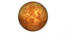 Planet Venus White Background
