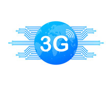 3g Network Technology. Wireless Mobile Telecommunication Service Concept. Marketing Website Landing Template. Vector Stock Illustration.