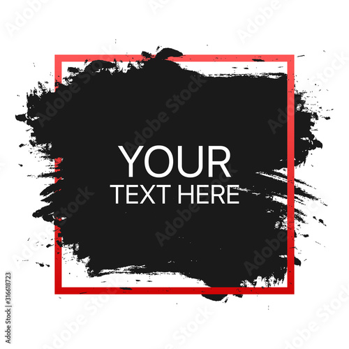Fototapety, obrazy: Quote template conceptual brackets grunge brush. Hand drawn acrylic stroke, quote template. Vector stock illustration