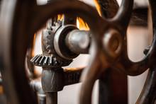 Mechanic Picture. Close-up Cog...