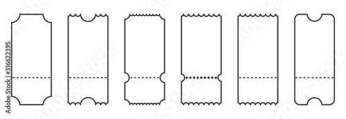 Fotografía Set of linear ticket templates. Blank tickets