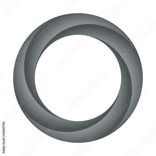 Obraz Black ring design. Orbit icon. Vector illustration - fototapety do salonu
